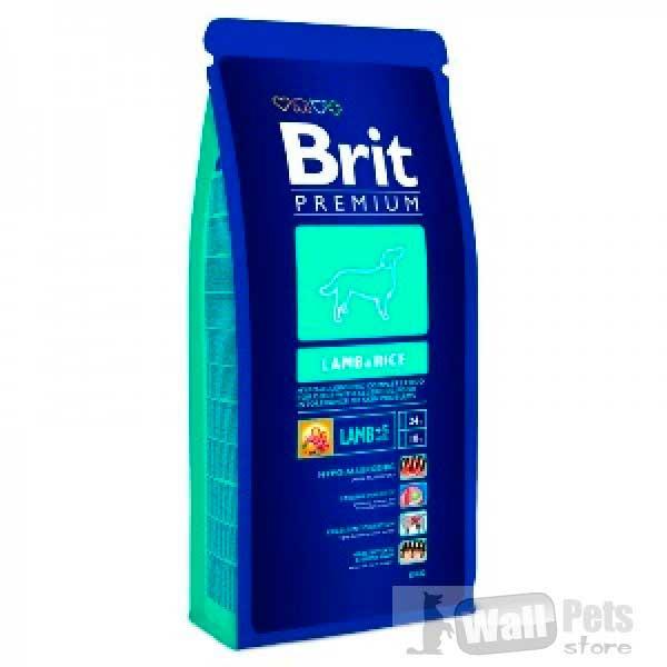 Brit Premium корм гипоаллергенный с ягненком и рисом для собак (Premium Lamb & Rice )