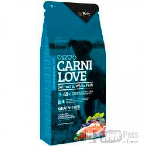 Брит беззерновой  для взрослых собак с лососем и мясом белой рыбы ( Brit Carnilove Salmon & White Fish)