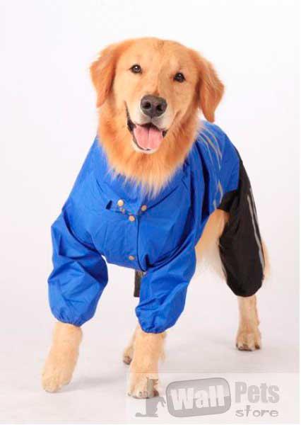 Комбинезон для крупных собак, дождевик для собак