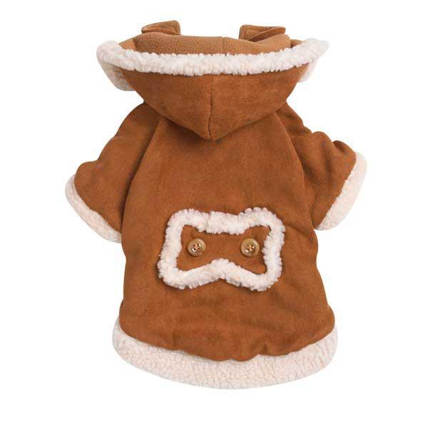 Куртка из искусственной замши, одежда для собак