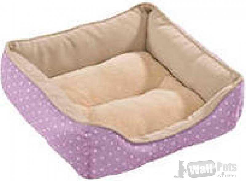 Hunter софа для собак и кошек White Dots 40x40 cм, лиловая в горох