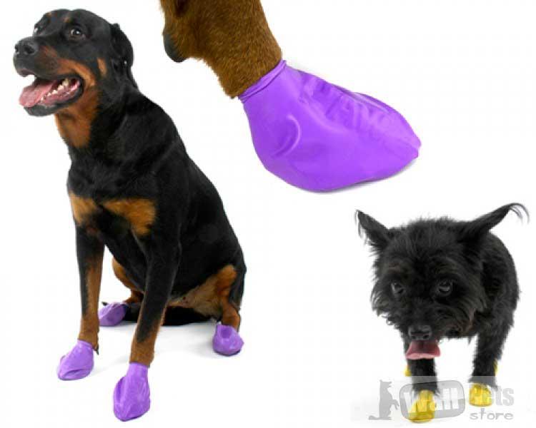 Обувь для собак из каучука
