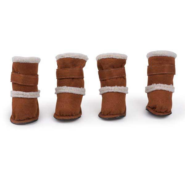 Обувь для собак, замша, 4 шт