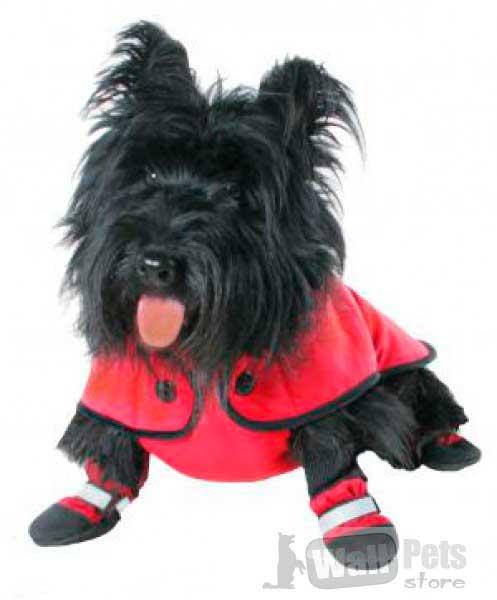 Пальто с поясом (одежда для крупных и средних собак)