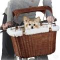 Плетеная велокорзина для собак