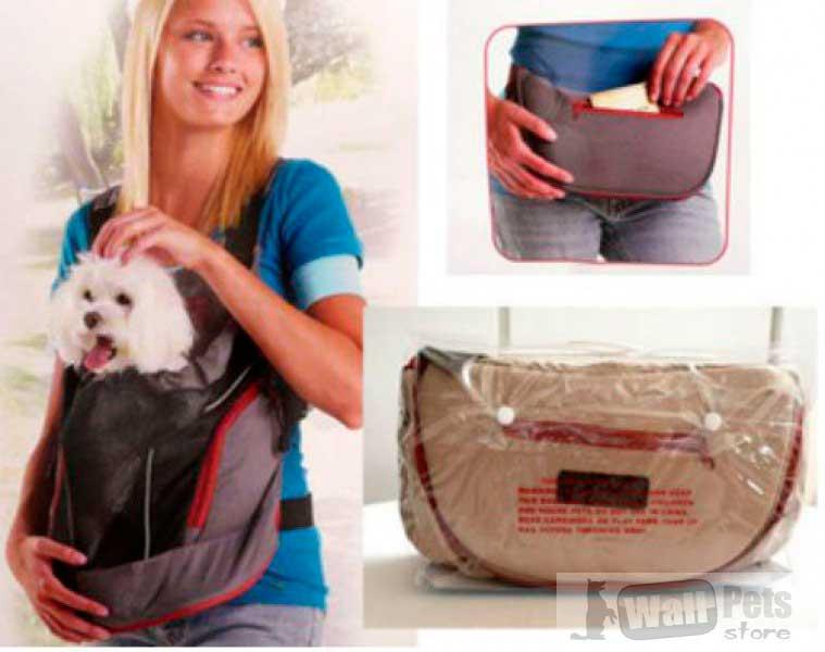 Рюкзак, поясная сумка, переноска для собак (3 в 1)