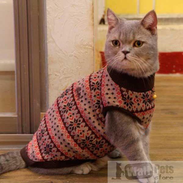 Свитер для кошек, одежда для кошек интернет магазин