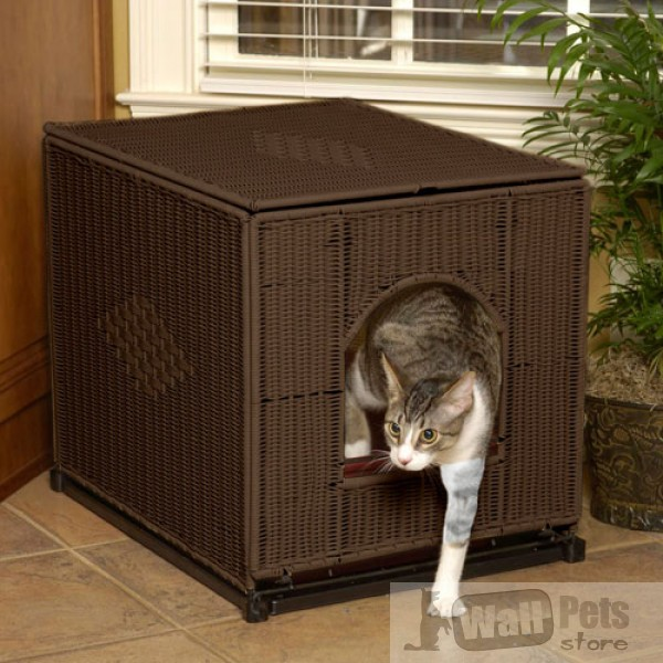 Туалет для кошек плетеный