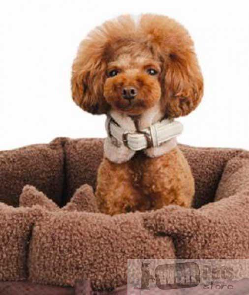 Лежак круглый для собак c бантом
