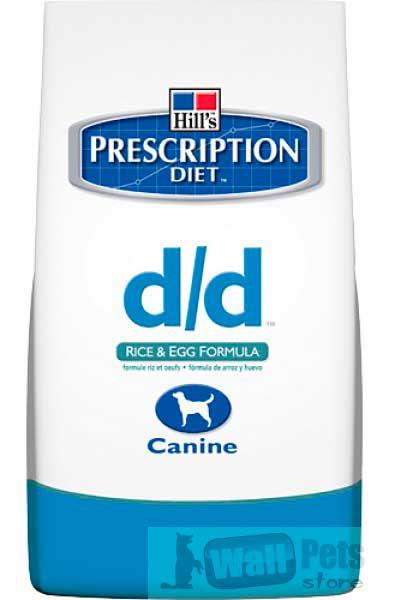 Hill's Хиллс Prescription Diet™D/D Яйцо,рис: Лечение пищевых аллергий и непереносимости (Egg&Rice)