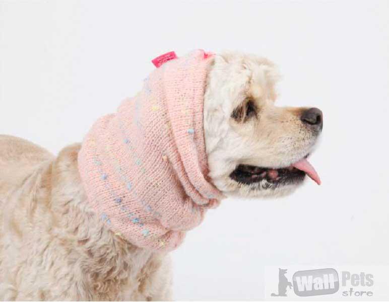 Шапка для собак вязаная
