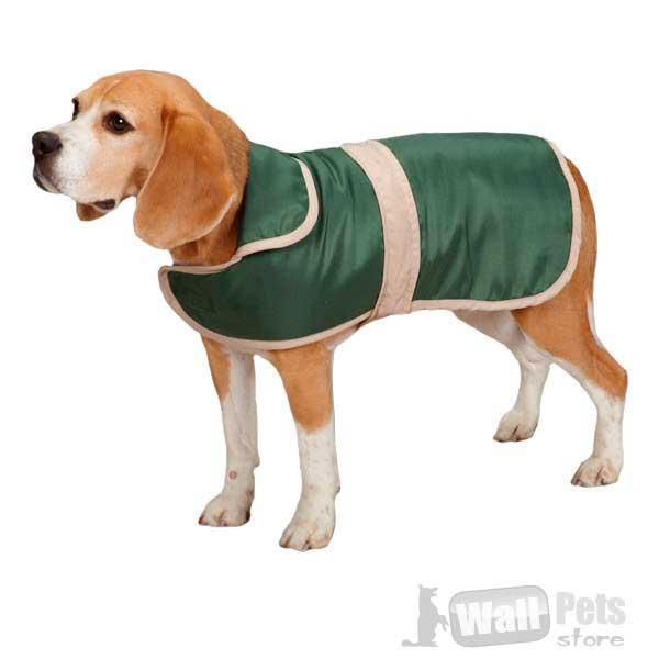 Пальто для собак с контрастной отделкой