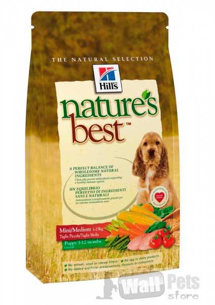 Hills Nature's best Хиллс NB для щенков мелких и средних пород Курица/Овощи