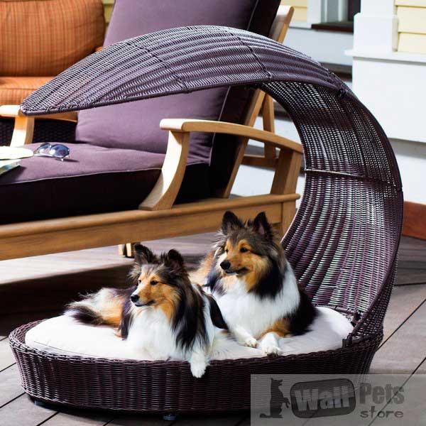 Мебель для собак для сада из роттанга