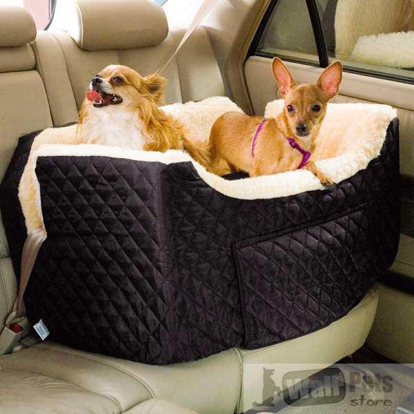 Авто кресло на 2х собак для любых ремней безопасности