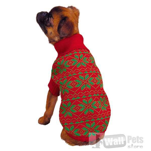 Свитер для собак в снежинку