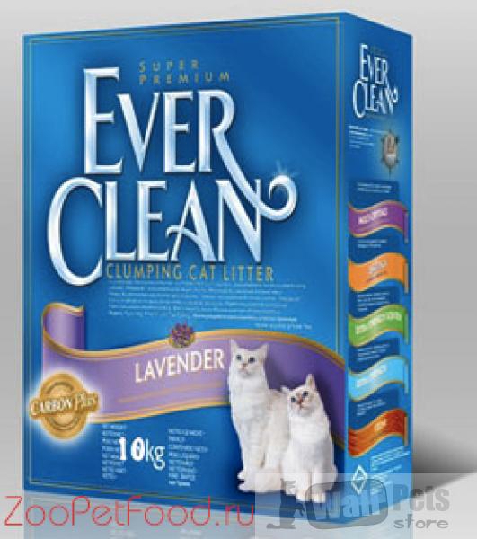 Эвер Клин Lavender Наполнитель комкующийся с ароматом лаванды