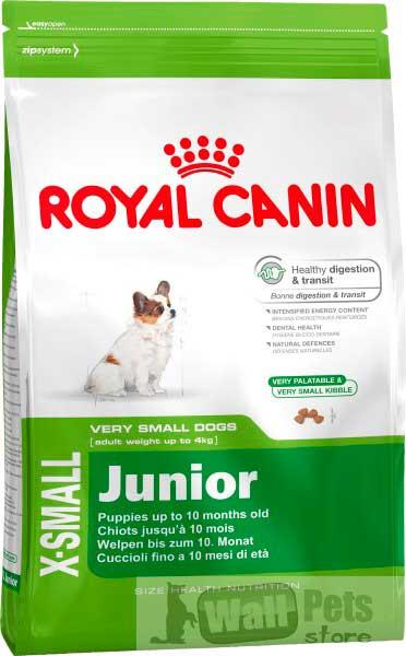 Royal Canin, Роял Канин для щенков карликовых пород (X-Small Junior)