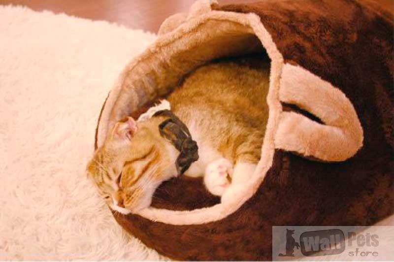 Лежак для кошки, плюш