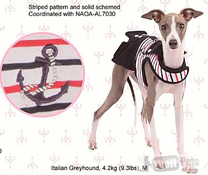 Шлейка для собак в морском стиле