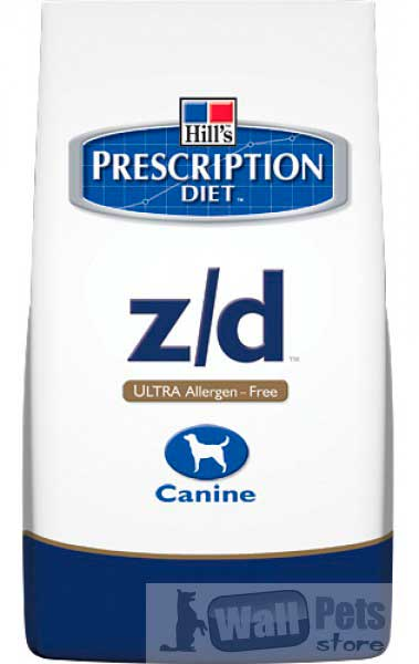 Hill's Хиллс Prescription Diet™ Z/D Ultra для собак лечение острых пищевых аллергий