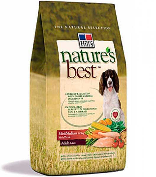 Hill's Хиллс Nature's Best для взр. собак мал. и ср. пород с курицей и овощам