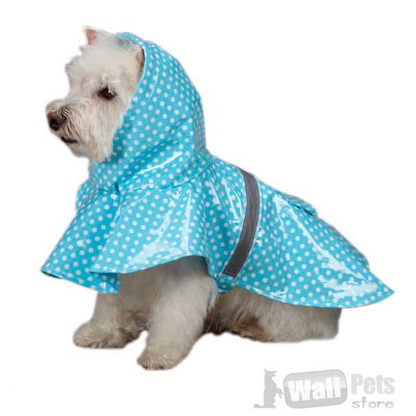 Дождевик для собак в горох
