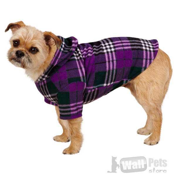 Одежда для собак, куртка-шотландка для собак (одежда для йорков)