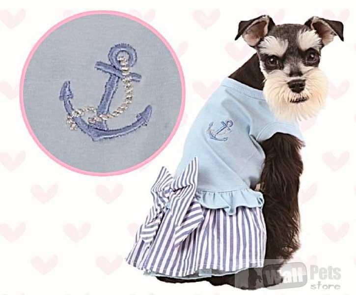 Платье для собак с бантом