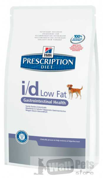 Hill's Хиллс Prescription Diet™ Canine I/D Low fat лечение заболеваний желудочно-кишечного тракта у собак, низкокалорийный