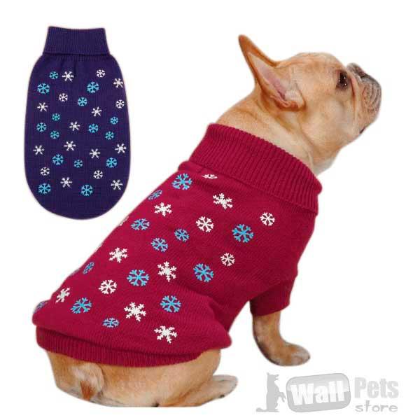 Свитер в снежинку ( одежда для собак )