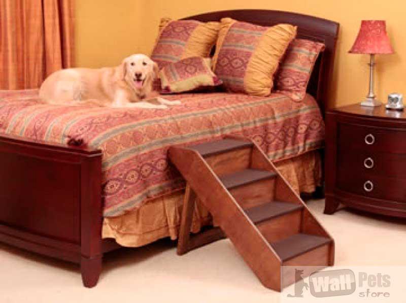 Деревянная складная лестница для крупных собак
