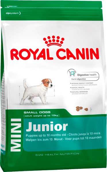 Royal Canin для щенков малых пород: 2-10 мес. (Mini Junior)