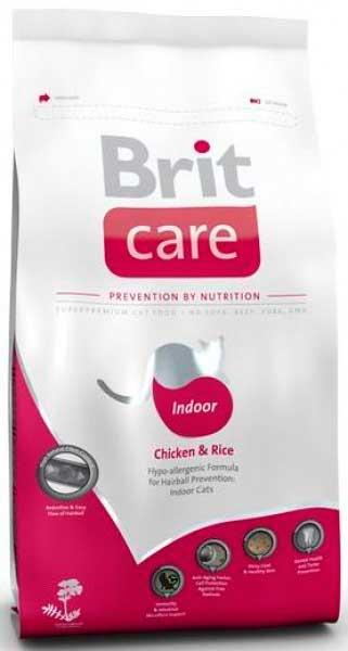 Brit Care для домашних кошек с курицей (Indoor)