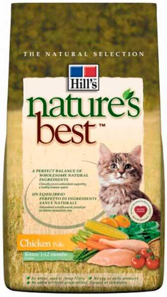 Nature best для котят с курицей и овощами