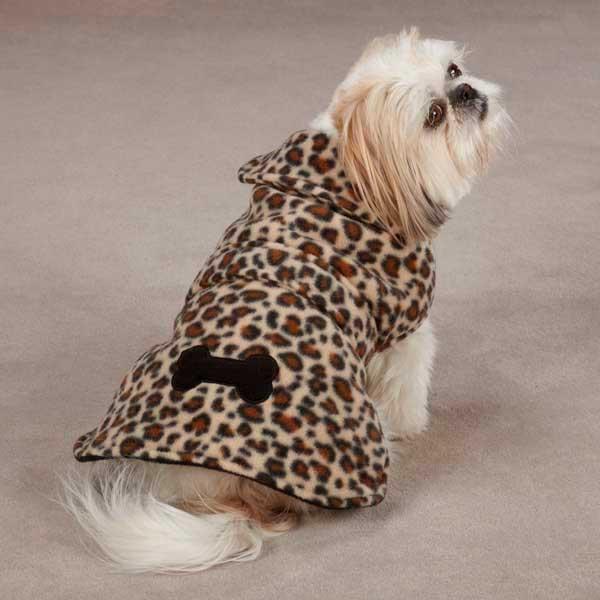 Леопардовая куртка для собак