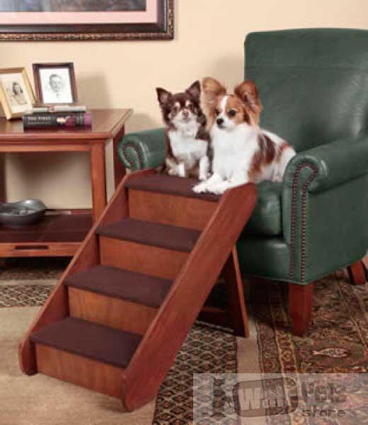 Деревянные ступеньки- лестницы для собак