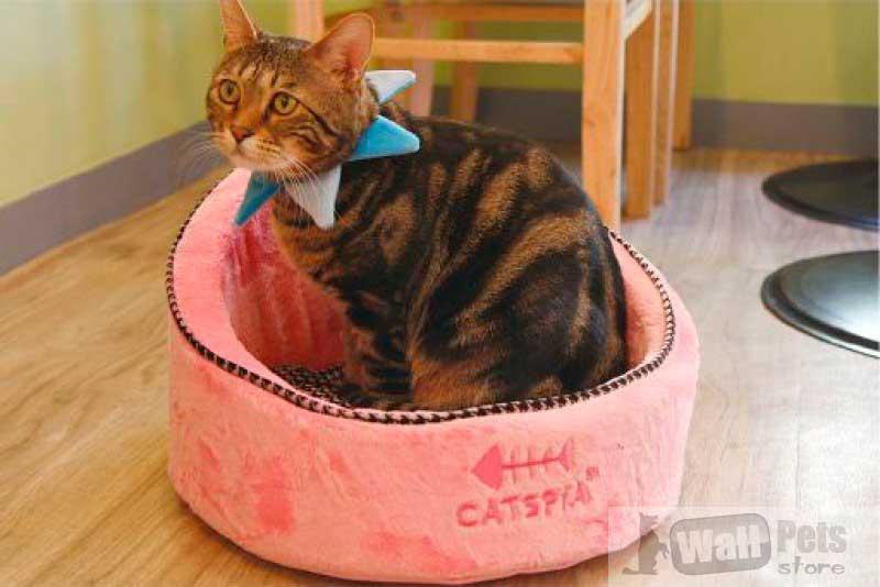 Домик для кошки, плюш