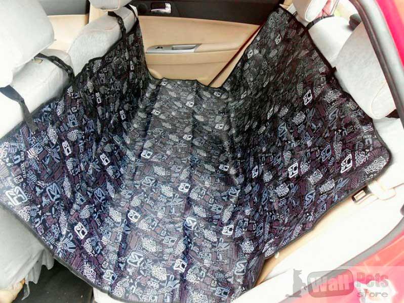 Чехол на заднее сиденье автомобиля для собак